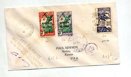 Lettre  Cachet Secteur Ouest  Inini Sur Chasseur Surchargé Expo Nationale  + Controle Postale Timbre Decollée ! - Inini (1932-1947)