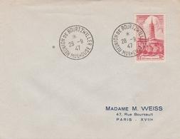 OBLIT. TEMPORAIRE RÉUNION BOURTZVILLER / MULHOUSE 9/47 - Postmark Collection (Covers)