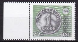 1998, EESTI, 328, 6. Jahrestag Der Währungsreform.  MNH ** - Estonia
