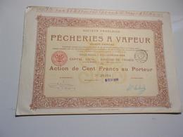 Française De PECHERIES A VAPEUR (boulogne Sur Mer, Pas De Calais) - Shareholdings