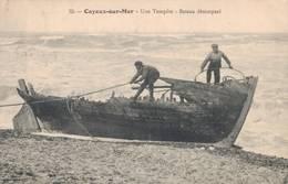 80 35 CAYEUX SUR MER Une Tempête Bateau Désemparé - Cayeux Sur Mer