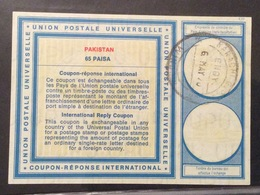 COUPON REPONSE INTERNATIONALE PAKISTAN  65 Paisa - Posta