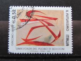 *ITALIA* USATI 2003 - IL FUTURISMO BOCCIONI - SASSONE 2719 - LUSSO/FIOR DI STAMPA - 6. 1946-.. Repubblica