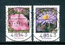 GERMANY Mi. Nr. 2462-2463 Freimarken: Blumen - RS Nr. 75, 210 - Siehe Scan - Used - Rollenmarken