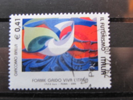 *ITALIA* USATI 2003 - IL FUTURISMO BALLA - SASSONE 2718 - LUSSO/FIOR DI STAMPA - 6. 1946-.. Repubblica