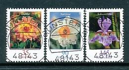 GERMANY Mi. Nr. 2505-2507  Freimarken: Blumen - RS Nr. 50, 285, 285 - Siehe Scan - Used - Rollenmarken