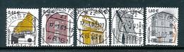 GERMANY Mi. Nr. 2298-2302 Freimarken: Sehenswürdigkeiten - RS Nr.  335, 215, 205,230,120 - Siehe Scan - Used - Rollenmarken