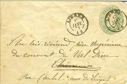 Enveloppe 10c De 1874 ( 4S ) De LIERRE Pour AUBEL ( Val-dieu ) Via HERVE . - Stamped Stationery