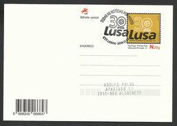 Portugal 2016 Entier Postal 30 Ans Lusa Agence Presse Portugaise Cachet Postal Stationery Lusa News Agency 30 Years Pmk - Ganzsachen