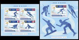 GUINEA 2018 - PyeongChang Olympics - Mi 13050-3 + B2906; CV=40 € - Winter 2018: Pyeongchang