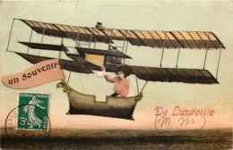 France - 54 - Fantaisie Avion Couleurs - Un Souvenir De Lunéville - Luneville