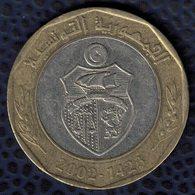 Tunisie 2002 Pièce De Monnaie Coin 5 Dinars Tunisiens 2002 - 1423 SU - Tunisie