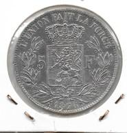 LEOPOLD 2 - 5 FRANK 1876 - 1865-1909: Leopold II
