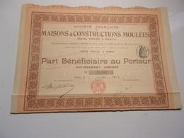 MAISONS & CONSTRUCTIONS MOULEES  (bénéficiaire) 1912 - Shareholdings