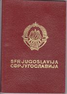 S. F. R.  YUGOSLAVIA  --  PASSPORT --  LADY PHOTO  ~ 1978  --  VISA ( AUFENTHAL BIS 3 MONATEN )  DEUTSCHLAND - Historische Dokumente