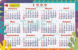 MALAYSIA - Calendar 1999, CN : 5MTRA, Used - Malaysia