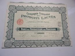 Compagnie Française Des Produits Lactés (1909) - Shareholdings