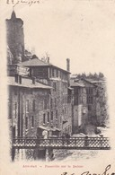07. ANNONAY. CPA . RARETÉ. PASSERELLE SUR LA DEÛME. ANNEE 1903 - Annonay