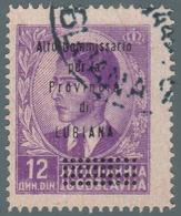 Franc. Di Jugoslavia Del 1935/36 Soprastampato: Alto Commissario Per La Provincia Di LUBIANA  12 D. Violetto - 1941 - 9. Ocupación 2ª  Guerra (Italia)