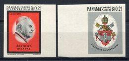 1964-PANAMA- PAPE JEAN XXIII-  2  VAL.IMPERF. M.N.H. LUXE !! - Panama