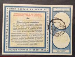 COUPON REPONSE INTERNATIONALE  SUD AFRICA  REPUBLIC OF SOUTH AFRICA 10 C. - Posta