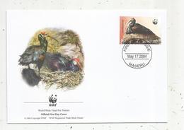 Premier Jour D'émission ,FDC , WWF , LESOTHO ,  MASERU ,17 May 2004, Southern Bald Ibis, Oiseau - Lesotho (1966-...)