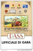 PASS BADGE RACE MOTOR SPORTS SALITA AUTOSTORICHE UFFICIALE GARA - Automobilismo - F1