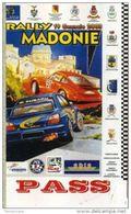 PASS BADGE RACE MOTORSPORTS RALLY CONCA D'ORO UFFICIALE DI GARA - Automobilismo - F1
