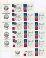 CK-151 FRANCE: Lot   2 Feuilles Du N°2141/42 (faciale De 12.20 Euros) - Feuilles Complètes