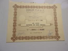 HAGLER FILS & Cie (certificat De 100 Actions De 100 Francs) - Shareholdings