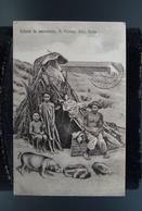 Afrique Cap Vert Cabo Verde Lot 3 CPA Mulhere Indigenas Indigena Mulher S Vincente Cabana De Pescadores - Cap Vert