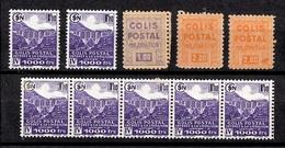 France Colis Postaux Non-émis Maury N° 165D, N° 165E (2) Et 183A (7) Neufs ** MNH. Rare! TB. A Saisir! - Colis Postaux