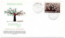 FDC. Romania, Liberté Pour L'europe De L'Est. Europa C.E.P.T. Cachet Madrid 17 Septembre 1960. - Europese Instellingen