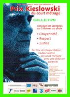 AFFICHE DE FILM - LA PREMIÈRE ÉDITION DU PRIX KIESLOWSKI EN 1997 - COURT MÉTRAGE - - Affiches Sur Carte