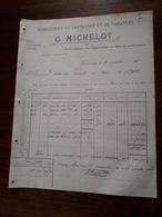 L12/43 Ancienne Facture. Distilleries De Fauverney Et De Varanges (côte D'Or). G.Michelot 1903 - France