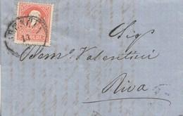 Z32 -LOMBARDO VENETO - 14/12/1859- Lettera Con Testo Da Brescia A Riva Con 5 Soldi Rosso Chiaro ... Leggi .... - Lombardo-Veneto