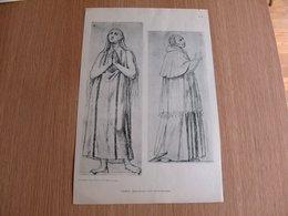 Lithographie Ingres Sainte Rosalie Saint Charles Borromée Vintage Print - Lithographies