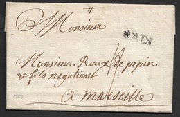 1759 - LAC - D'AIX - 21mm X 5mm - A MARSEILLE - 1701-1800: Précurseurs XVIII