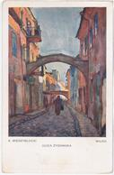 Lithuania Lietuva Litwa, Wilno Wilna Vilno Vilnius, Jews Or Jewish Street, Judaica, Adam Miedzyblocki Artist Painter - Litauen
