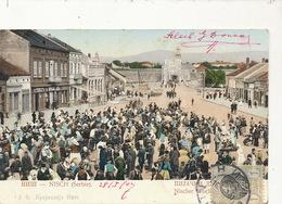 Nisch Serbie  Market . P. Used  Edit Purger Munchen No 3835 - Serbie