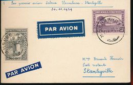 BELGIAN CONGO RUANDA URUNDI FIRST FLIGHT 1939 - 1924-44: Lettres