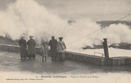 Biarritz Artistique - Vague Au  Rocher De La Vierge - Biarritz