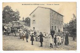 SAINT PRIEST La VÊTRE  (cpa 42)  Colonie En Vacances   -  L 1 - France