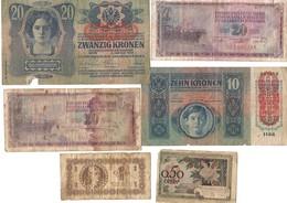 6 OLD BANKNOTES, SEE DESCRIPTION . - Coins & Banknotes