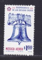 MEXIQUE AERIENS N°  411 ** MNH Neuf Sans Charnière, TB (D8168) Cloche, 200 Ans Indépendance Des USA - 1976 - Mexico
