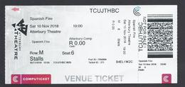 2018 - Atterbury Theatre - Spanish Fire - Pretoria South Africa - Not Used - Biglietti D'ingresso