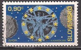 Slowakei  (2009)  Mi.Nr.  615  Gest. / Used  (7ae38)  EUROPA - Slovaquie