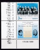 1999, EESTI, 347, 130 Jahre Estnische Nationalhymne. MNH ** - Estonia