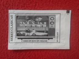 SOBRE DE AZÚCAR PACKET OF SUGAR SERIES CLÁSICAS DE TELEVISIÓN TV. SERIAL SERIE MIAMI VICE CORRUPCIÓN EN MIAMI VER FOTO/S - Sucres