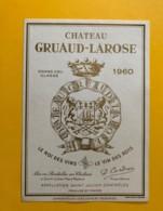 9556 - Château Gruaud-Larose 1960 St-Julien - Bordeaux